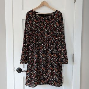 JCrew mercantile floral long sleeve dress Large***